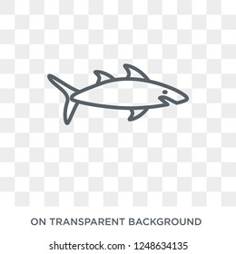 Shark icon. Trendy flat vector Shark icon on transparent background from animals collection. High quality filled Shark symbol use for web and mobile
