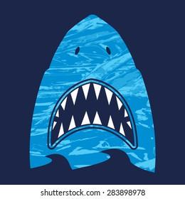 Shark illustration, typography, t-shirt graphics, vectors