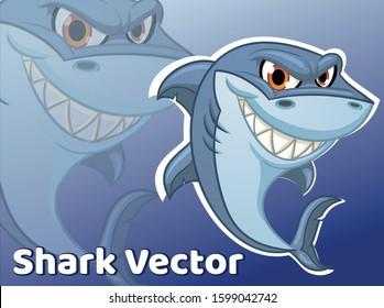 Shark illustration Shark Vector Shark Cartoon