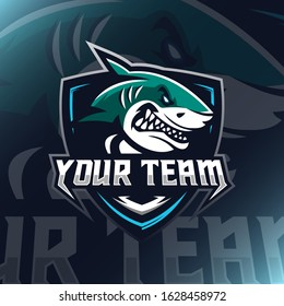 Shark Logo Mascot Vector Illustration