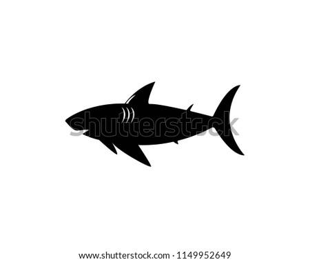 shark logo template stock vector royalty free 1149952649