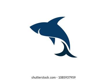 Shark Logo Template vector icon illustration design