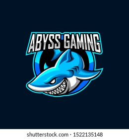 Shark Mascot Logo for Gaming, Stream Channel or Community