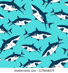 Shark Print pattern seamless