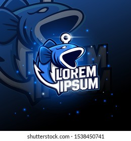 Shark sport mascot logo design. Sharks logo for a club or sport team vector illustration.