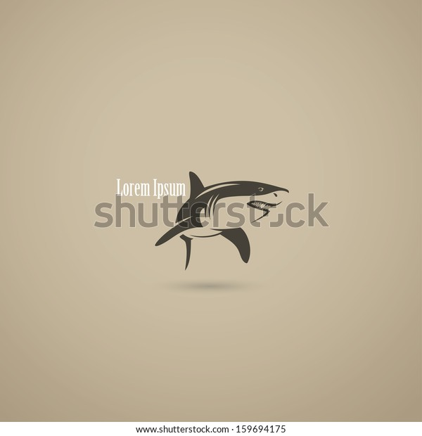 Shark Symbol Vector Illustration Stock Vector (Royalty Free