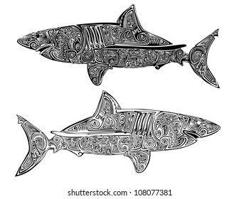 Black Shark Tattoo Images Stock Photos Vectors Shutterstock