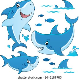 Shark topic collection 1 - eps10 vector illustration.