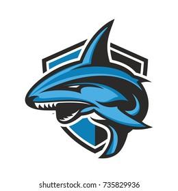 Shark - vector logo/icon illustration