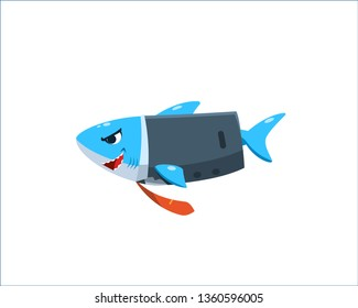a shark is wearing business suit