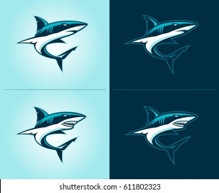 sharks illustration emblem