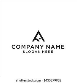 a shark's logo / a logo