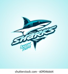 sharks logo for a club or sport team