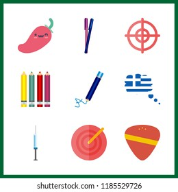 sharp icon. needle and greese vector icons in sharp set. Use this illustration for sharp works.