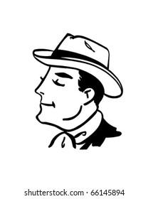 Sharp Looking Gent - Retro Clipart Illustration