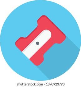 sharpner vector flat colour icon