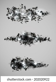 Shattered effect design collection