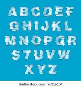 Shattered Glass Alphabet, apply to any color background