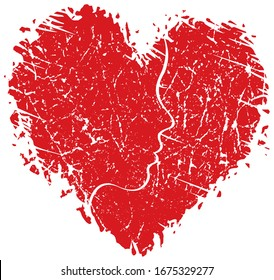 Shattered Heart with Face profile