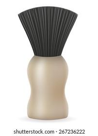 shaving brush vector illustration isolated on white background
