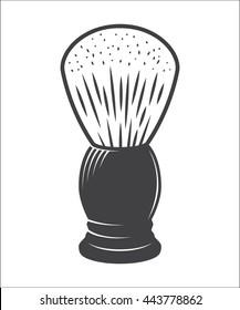 Shaving brush vector isolated on a white background vector illustration