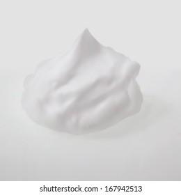 shaving cream isolated on white