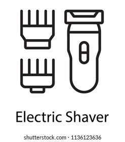 A shaving device with different blade cutters depicting electric shaver