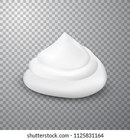 Shaving foam drop, isolated on simple background