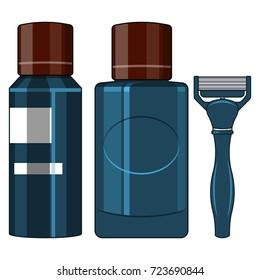 Shaving Kit for Men.Vector illustration