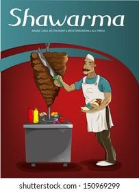Shawarma Chef (Vector)
