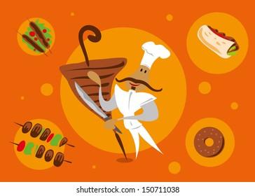 Shawarma Cheif (Vector)