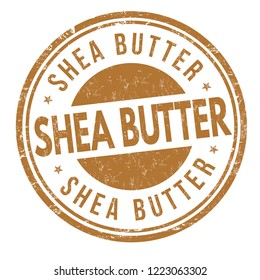 Shea butter sign or stamp on white background, vector illustration