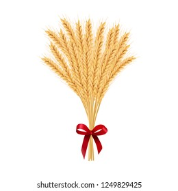 Sheaf of wheat. Reap of spiked grain heads. Christmas sheaf. Bunch of crop ears. Spikes, Julkarve, Julenek,