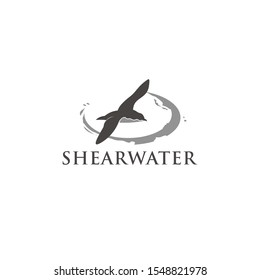 Shearwater flying vector design/icon Template