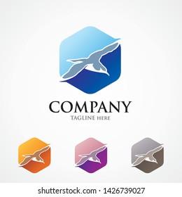 Shearwater logo concept in hexagonal shape