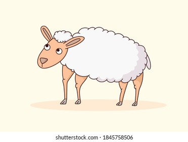 Schafe, Tierkarikaturen, Vektorgrafik
