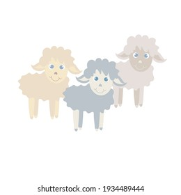 Sheep. Cartoons farm animal art design stock vector illustration for web, for print