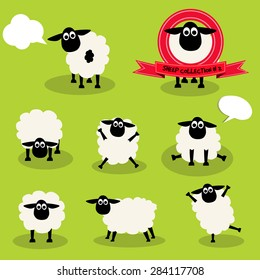 Sheep character collection,illustration design