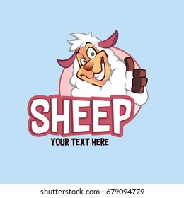 Sheep Character Illustration