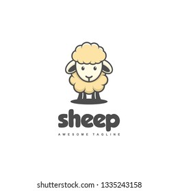 Sheep Concept illustration vector template. Suitable for Creative Industry, Multimedia, entertainment, Educations, Shop, and any related business