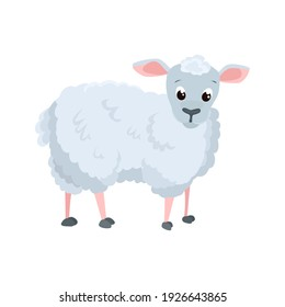 Sheep flat icon. Colored vector element from animals collection. Creative Sheep icon for web design, templates and infographics.