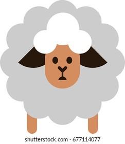 A sheep flat vector