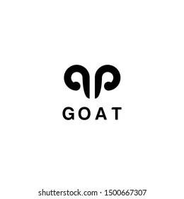 sheep goat horns idea logo design vector icon illustration inspiration. aries zodiac symbol logos