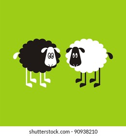 Sheep, good and different # 03. Set for the press on T-shirts.