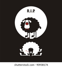 Sheep, good and different # 06. Set for the press on T-shirts.