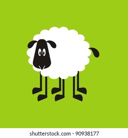 Sheep, good and different # 07. Set for the press on T-shirts.