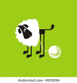 Sheep, good and different # 08. Set for the press on T-shirts.