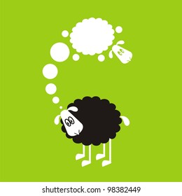 Sheep, good and different # 09 Set for the press on T-shirts.