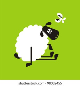 Sheep, good and different # 25 Set for the press on T-shirts.