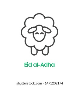Sheep icon. Animal head. Farm sign. Graph symbol for your web site design, logo, app, UI. Vector illustration